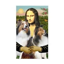 Mona Lisa / 2 Shelties (DL) Decal