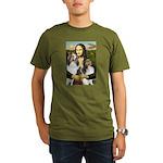 Mona Lisa / 2 Shelties (DL) Organic Men's T-Shirt