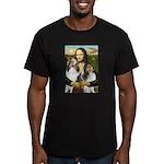 Mona Lisa / 2 Shelties (DL) Men's Fitted T-Shirt (