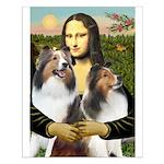 Mona Lisa / 2 Shelties (DL) Small Poster