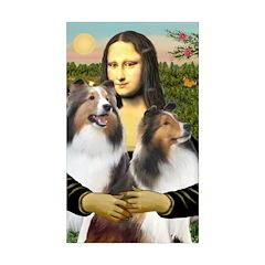 Mona Lisa / 2 Shelties (DL) Decal