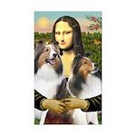 Mona Lisa / 2 Shelties (DL) Sticker (Rectangle 10