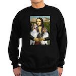 Mona Lisa / 2 Shelties (DL) Sweatshirt (dark)