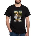Mona Lisa / 2 Shelties (DL) Dark T-Shirt