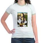 Mona Lisa / 2 Shelties (DL) Jr. Ringer T-Shirt