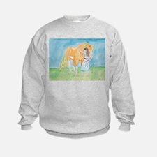 Sweatshirt horse and girl
