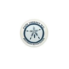 Cape Lookout NC - Sand Dollar Design Mini Button