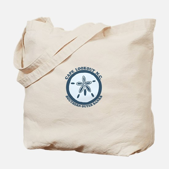 Cape Lookout NC - Sand Dollar Design Tote Bag