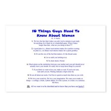 10 Things About Women Postcards (Package of 8)