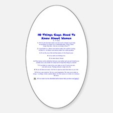 10 Things About Women Sticker (Oval)