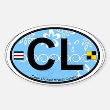 Cape Lookout NC - Oval Design Sticker (Oval)