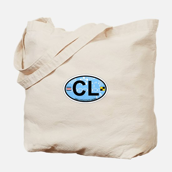 Cape Lookout NC - Oval Design Tote Bag
