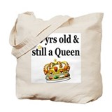80 yr birthday Regular Canvas Tote Bag
