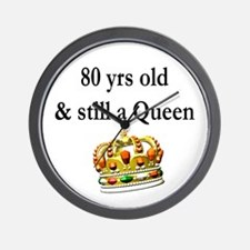 80 YEAR OLD QUEEN Wall Clock