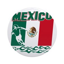 Mexican soccer Ornament (Round)
