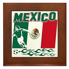Mexican soccer Framed Tile