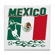 Mexican soccer Tile Coaster