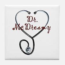 Dr. McDreamy Tile Coaster