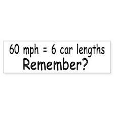 60 mph Bumper Bumper Sticker