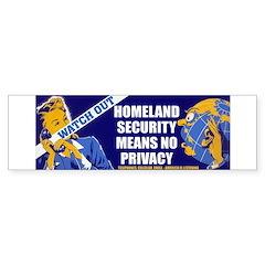 Homeland Security Bumper Bumper Sticker