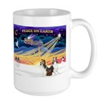 XmasSunrise/2 Shelties (dl) Large Mug