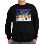 XmasSunrise/2 Shelties (dl) Sweatshirt (dark)