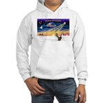 XmasSunrise/2 Shelties (dl) Hooded Sweatshirt