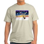 XmasSunrise/2 Shelties (dl) Light T-Shirt
