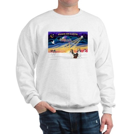 XmasSunrise/2 Shelties (dl) Sweatshirt