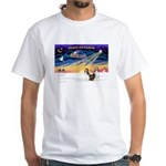 XmasSunrise/2 Shelties (dl) White T-Shirt