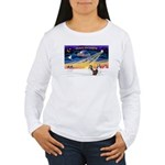 XmasSunrise/2 Shelties (dl) Women's Long Sleeve T-
