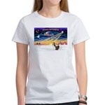 XmasSunrise/2 Shelties (dl) Women's T-Shirt