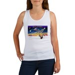 XmasSunrise/2 Shelties (dl) Women's Tank Top