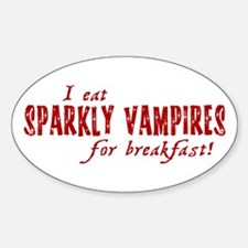 I Eat Sparkly Vampires For Br Decal