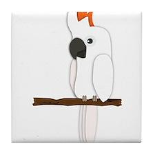 Moluccan Cockatoo Tile Coaster