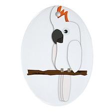 Moluccan Cockatoo Ornament (Oval)