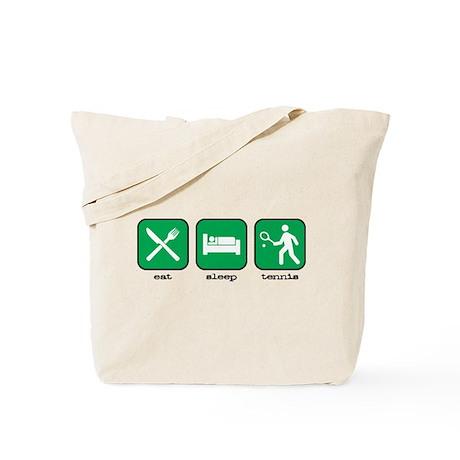 Eat, Sleep, Tennis (Green) Tote Bag
