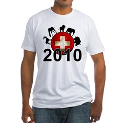 Switzerland World Cup 2010 Fitted T-Shirt
