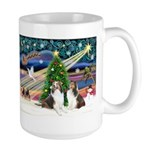 Xmas Magic / 2 Shelties (dl) Large Mug