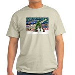 Xmas Magic / 2 Shelties (dl) Light T-Shirt