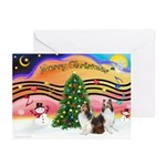 Xmas Music / 2 Shelties Greeting Cards (Pk of 10)