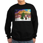 Xmas Music / 2 Shelties Sweatshirt (dark)
