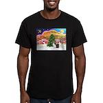 Xmas Music / 2 Shelties Men's Fitted T-Shirt (dark
