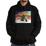 Xmas Music / 2 Shelties Hoodie (dark)