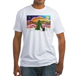Xmas Music / 2 Shelties Fitted T-Shirt