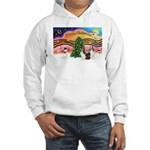 Xmas Music / 2 Shelties Hooded Sweatshirt