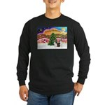 Xmas Music / 2 Shelties Long Sleeve Dark T-Shirt
