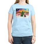 Xmas Music / 2 Shelties Women's Light T-Shirt