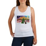 Xmas Music / 2 Shelties Women's Tank Top