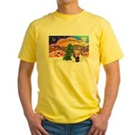 Xmas Music / 2 Shelties Yellow T-Shirt